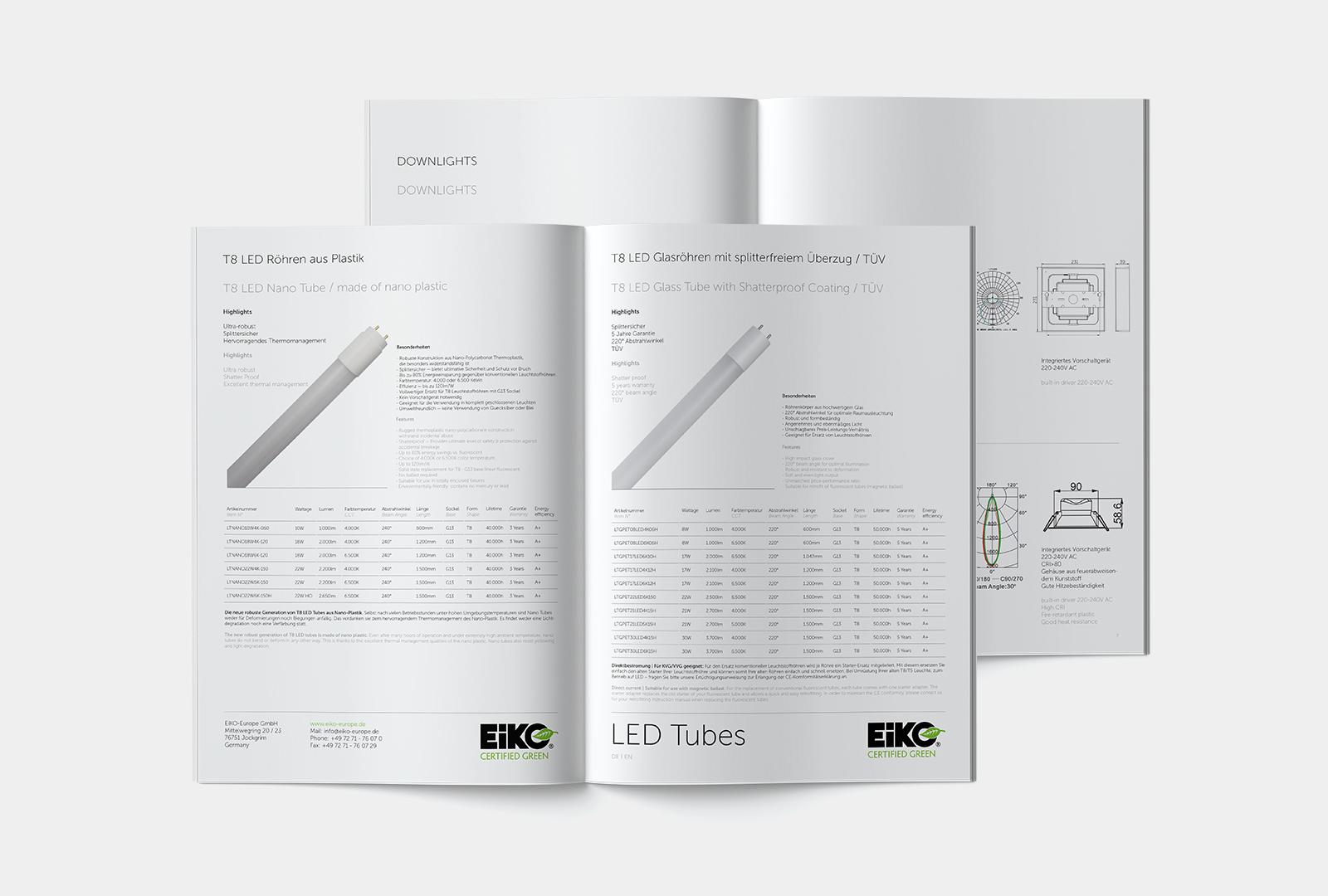 EiKO Broschüren Tabellen