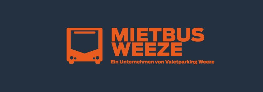 Mietbus Weeze Logo Blau