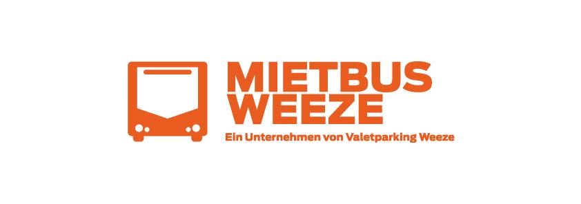 Mietbus Weeze Logo Weiss